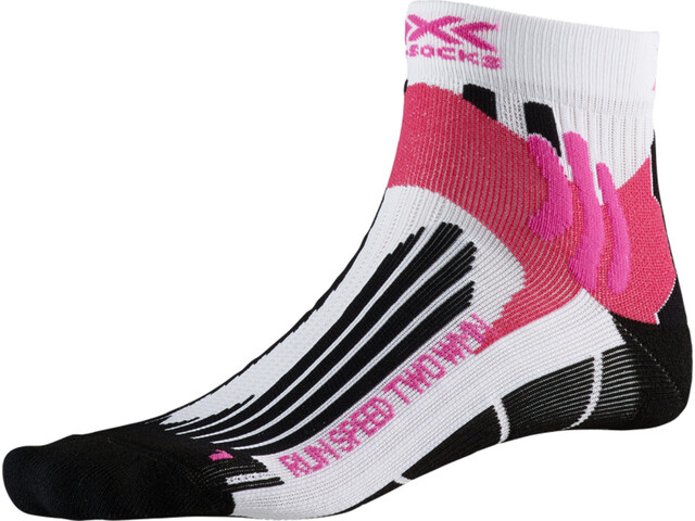 X-Socks Run Speed Two Chaussettes Femme, arctic white/opal black